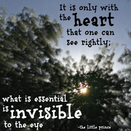 it is only with the heart that one can see rightly, quote, little prince, antoine de saint exupery