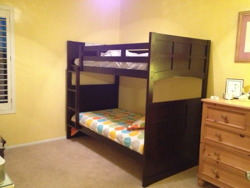 bunk beds, shared kids room, unisex kids bedding