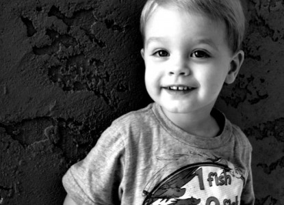two year old boy, smiling