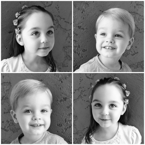kids after haircuts, iPhone photography, photo collage