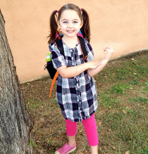 first day of preschool, year 2