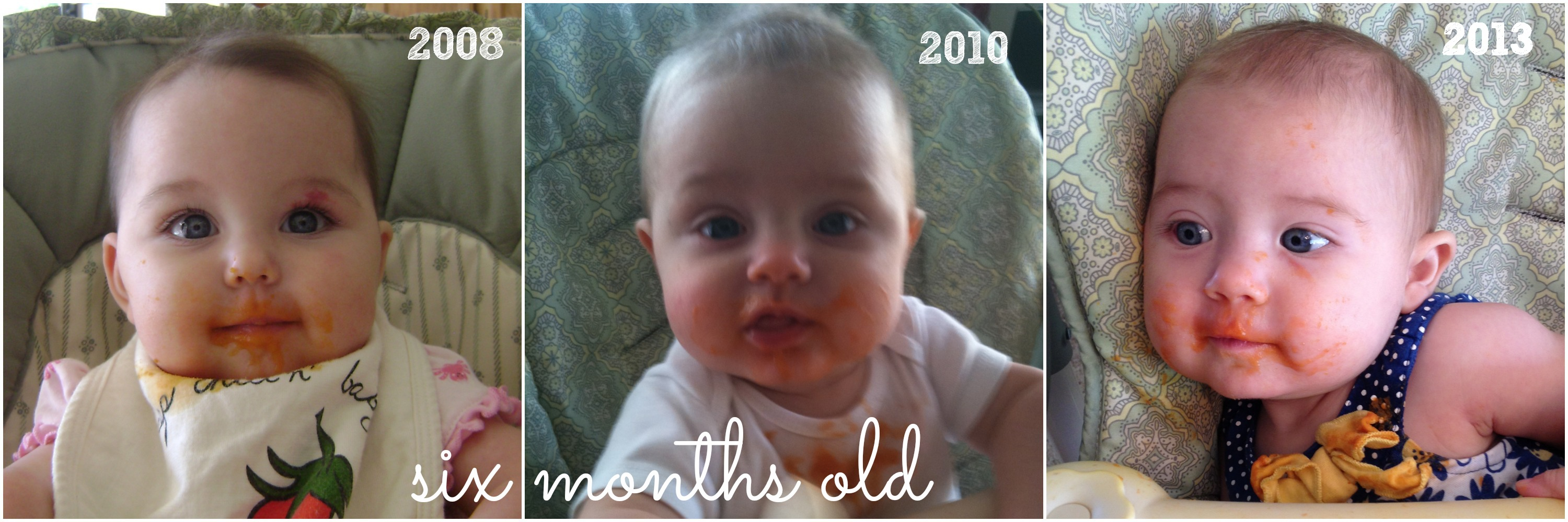6 months sweet potatoes with text
