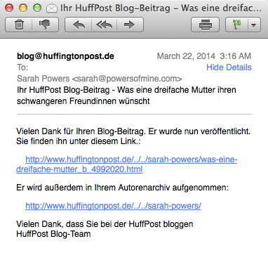 Huffington Post Letter to a Friend About